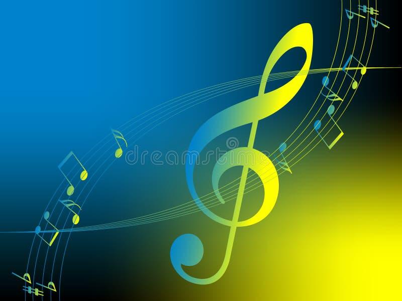 Ilustración de la música. Vector. stock de ilustración