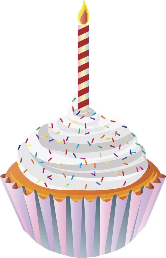 Ilustración de la magdalena del feliz cumpleaños libre illustration