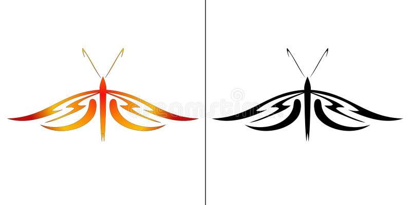 Ilustración de la mariposa ilustración del vector