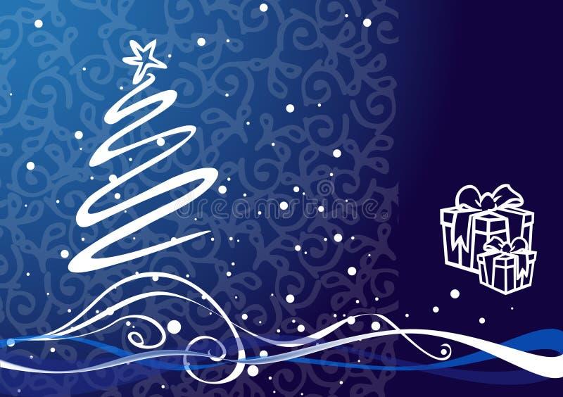 Ilustración de la Navidad - árbol de navidad. stock de ilustración