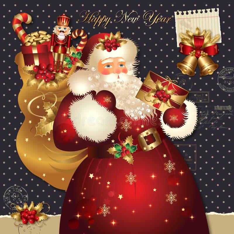 Ilustración de la Navidad con Papá Noel libre illustration
