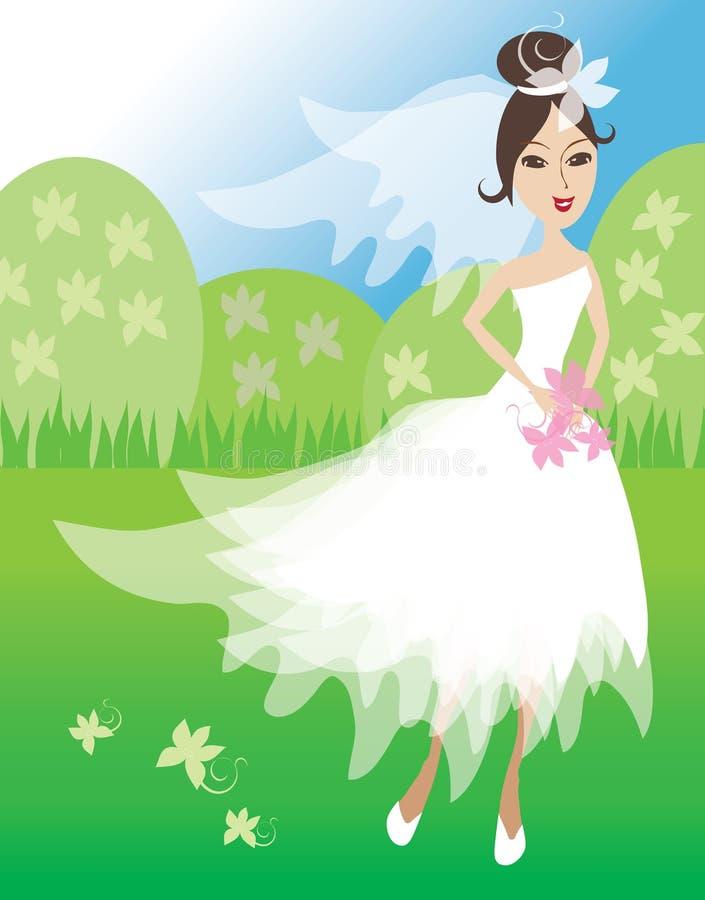 Ilustración de la novia libre illustration