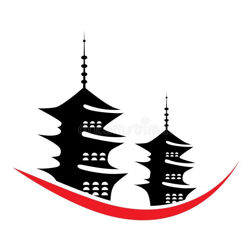 Ilustración de la pagoda del vector libre illustration