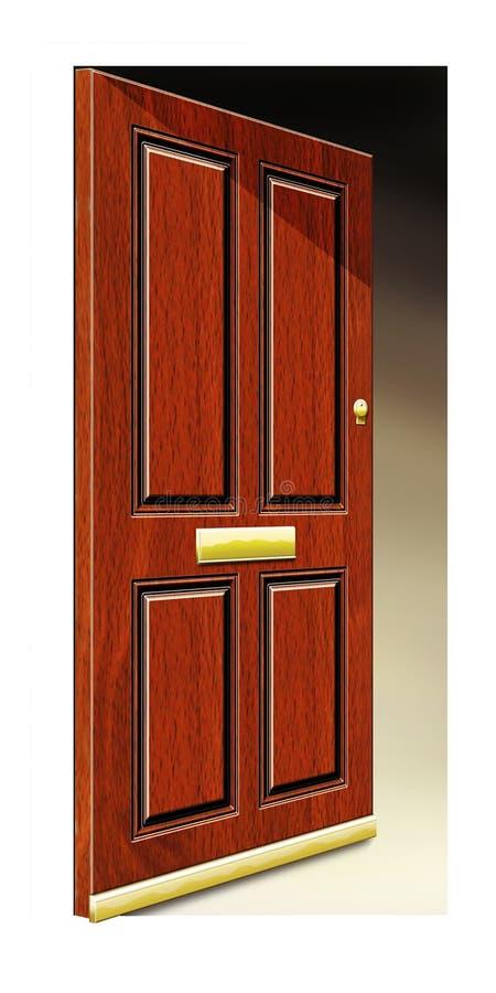 Ilustración de la puerta abierta imágenes de archivo libres de regalías