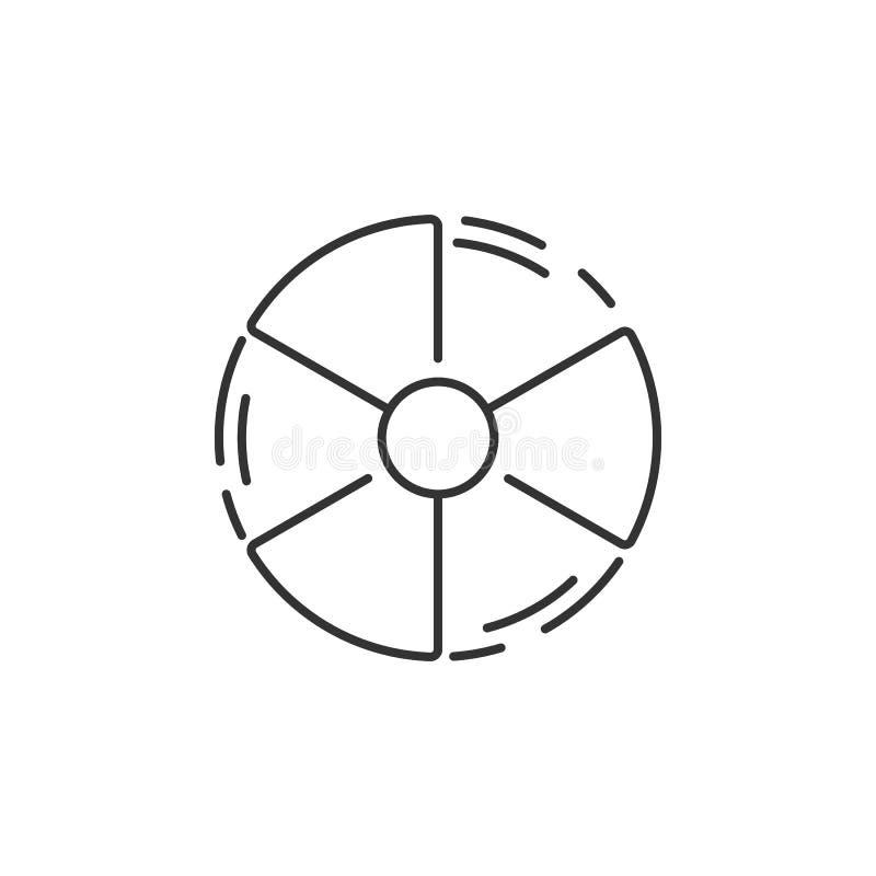Ilustración de la radiación icon Ejemplo simple del elemento Diseño del símbolo de la radiación del sistema de la colección de la ilustración del vector