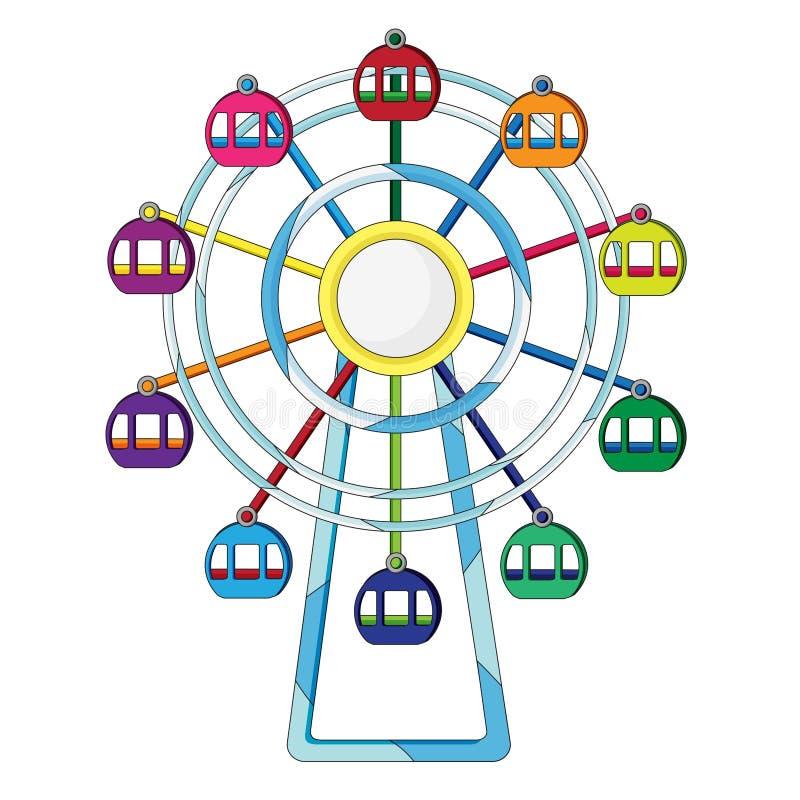 Ilustración de la rueda de Ferris stock de ilustración