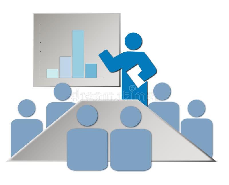 Ilustración de la sala de reunión ilustración del vector