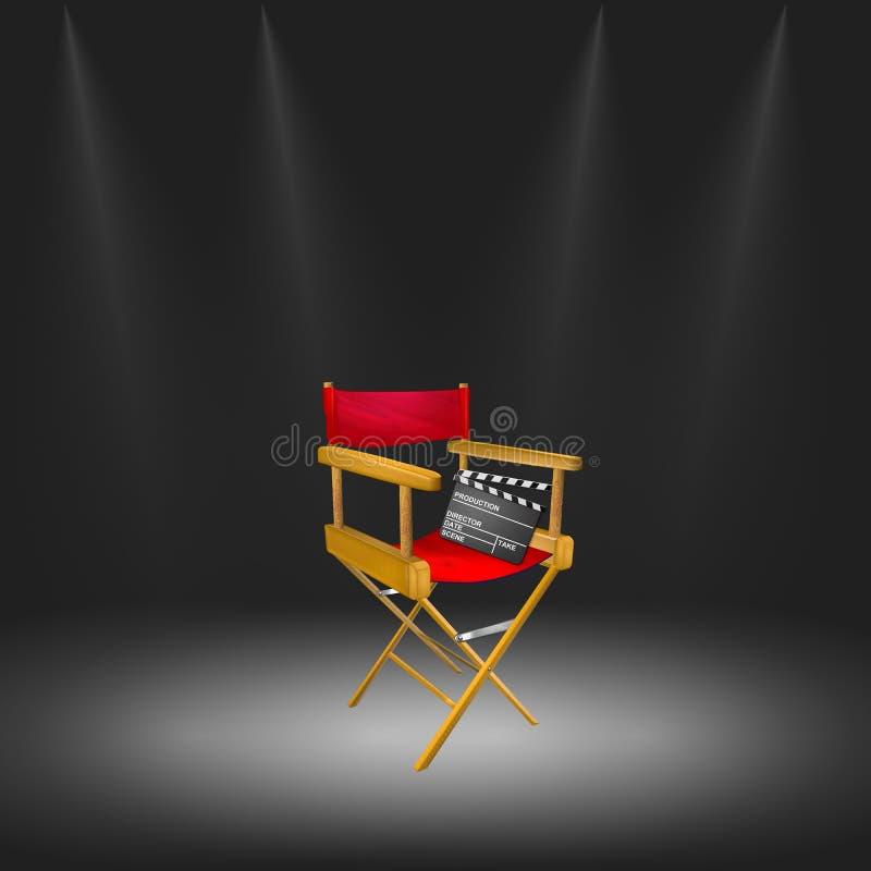 Ilustración de la silla del director stock de ilustración