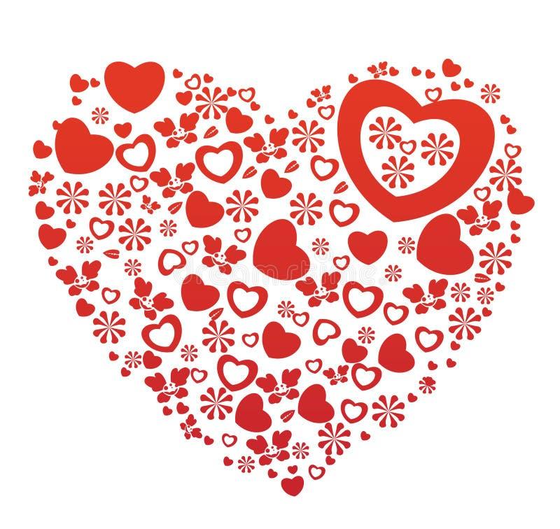 Ilustración de la tarjeta del día de San Valentín ilustración del vector