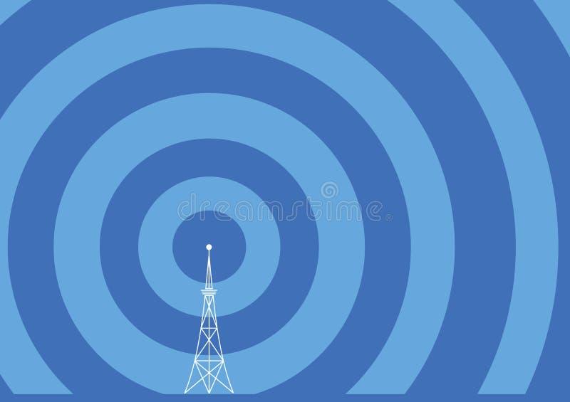 Ilustración de la torre de la difusión stock de ilustración