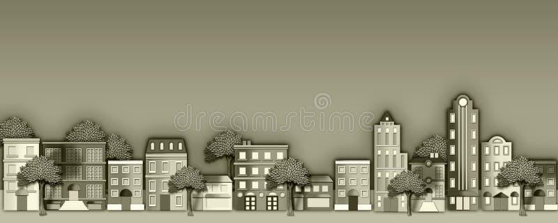 Ilustración de la vecindad ilustración del vector