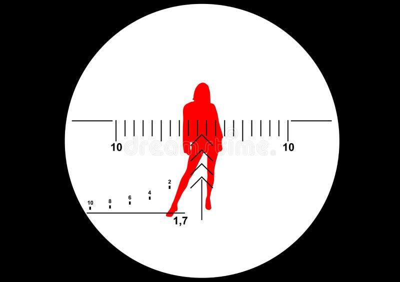 Ilustración de la vista del rifle del francotirador ilustración del vector