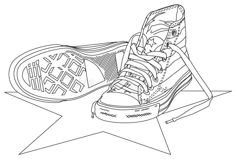 Ilustración de la zapatilla de deporte libre illustration