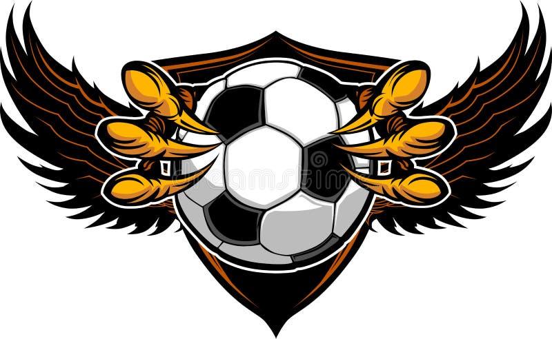 Ilustración de las garras y de las garras del fútbol del águila stock de ilustración