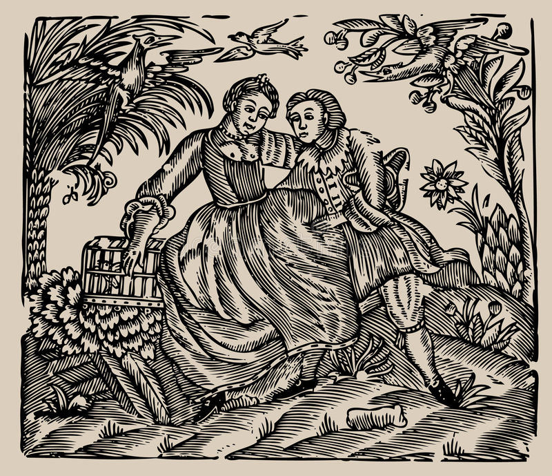Ilustración de libro viejo ilustración del vector