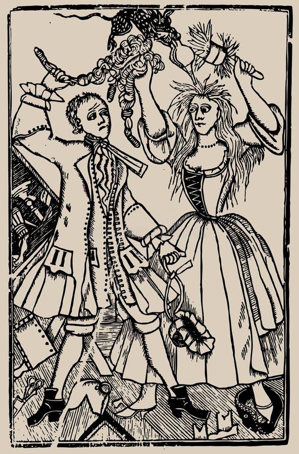Ilustración de libro viejo stock de ilustración