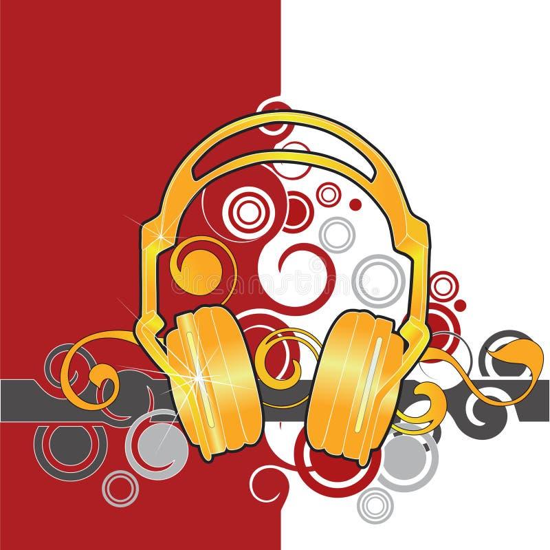 Ilustración de los auriculares stock de ilustración