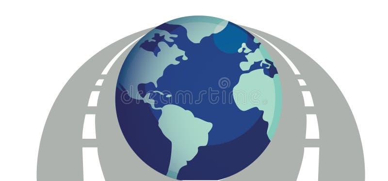 Ilustración de los caminos en todo el mundo libre illustration