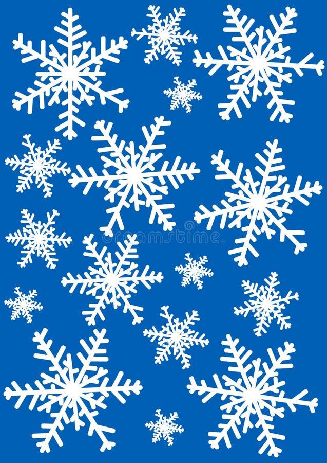 Ilustración de los copos de nieve ilustración del vector