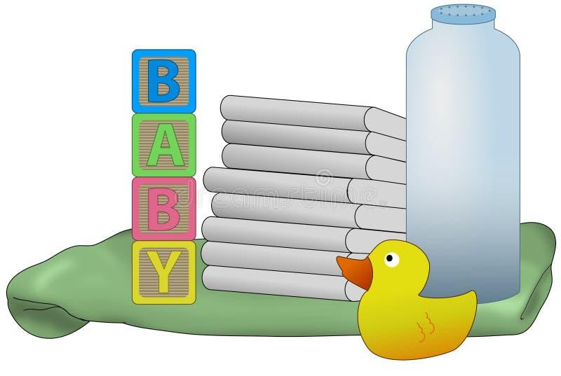 Ilustración de los pañales del bebé ilustración del vector