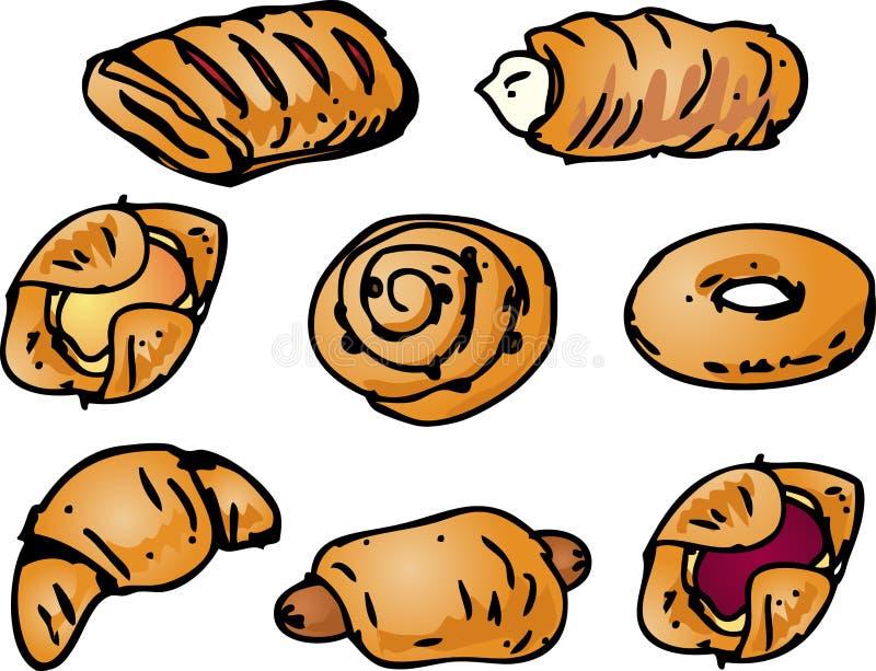 Ilustración de los pasteles ilustración del vector