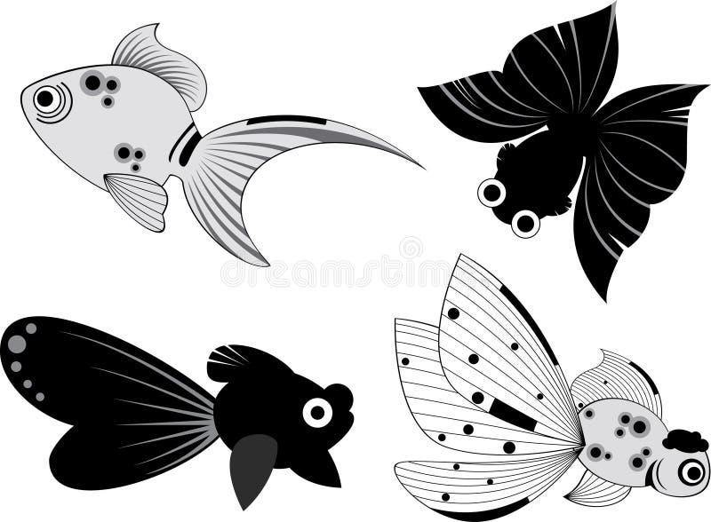 Ilustración de los pescados ilustración del vector