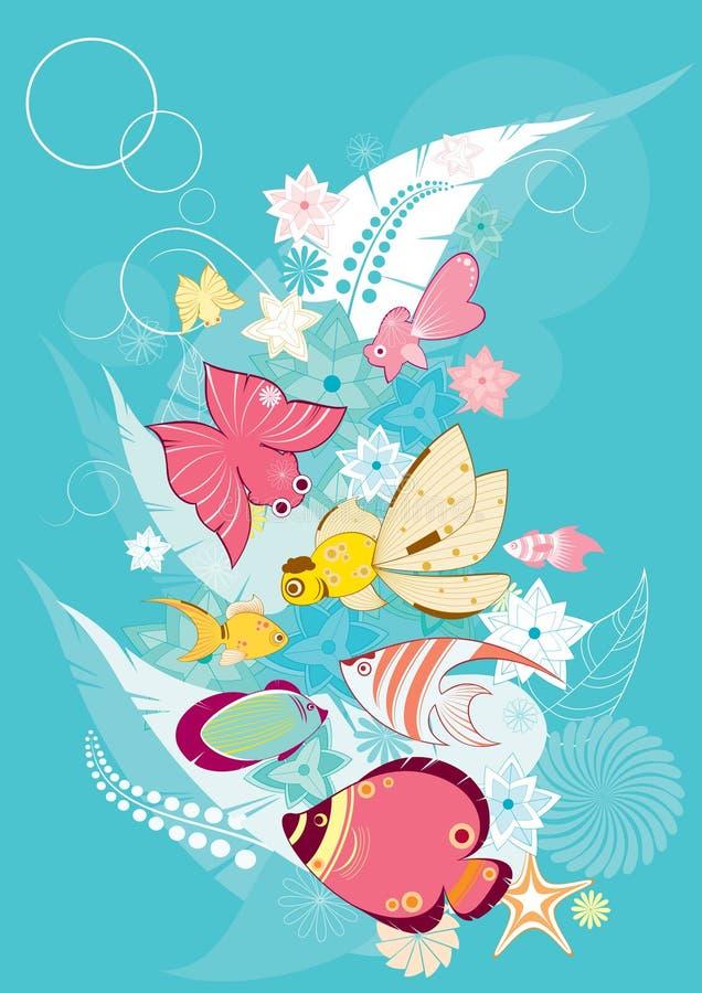 Ilustración de los pescados stock de ilustración