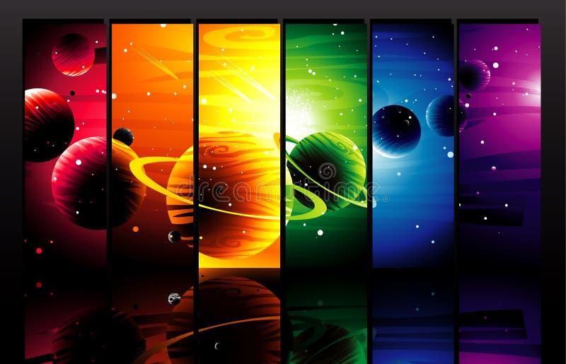 Ilustración de los planetas stock de ilustración
