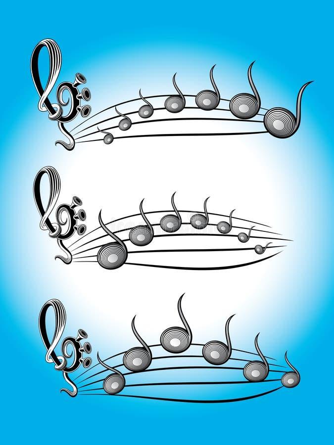 Ilustración de los símbolos del color de la música libre illustration