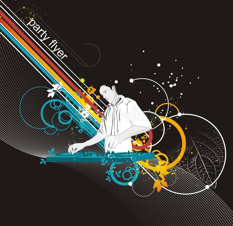 Ilustración de mezcla del partido de DJ libre illustration
