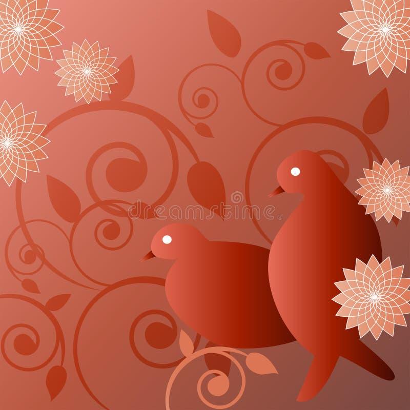 Ilustración de pájaros stock de ilustración