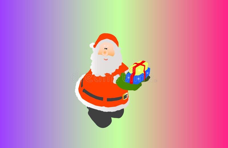 Ilustración de Papá Noel ilustración del vector