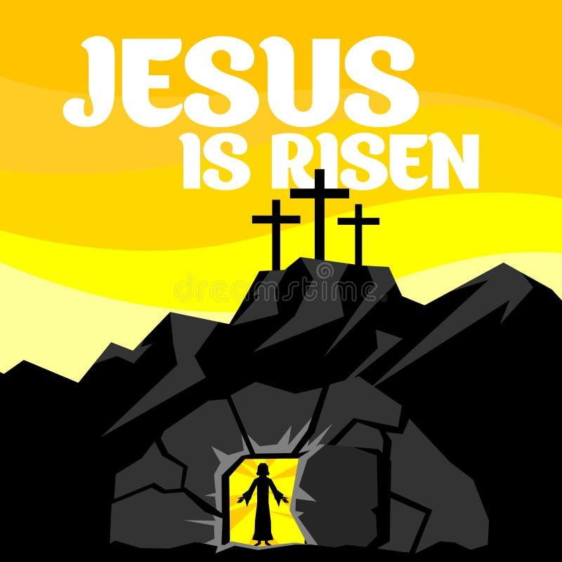 Ilustración de Pascua Se sube el Jesucristo ilustración del vector
