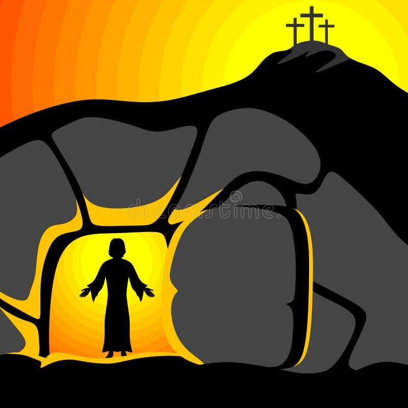 Ilustración de Pascua Se sube el Jesucristo libre illustration