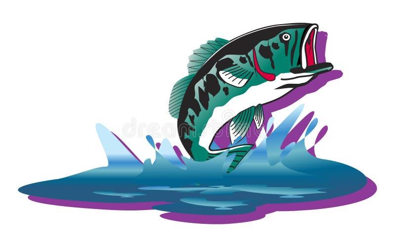 Ilustración de salto de los pescados ilustración del vector