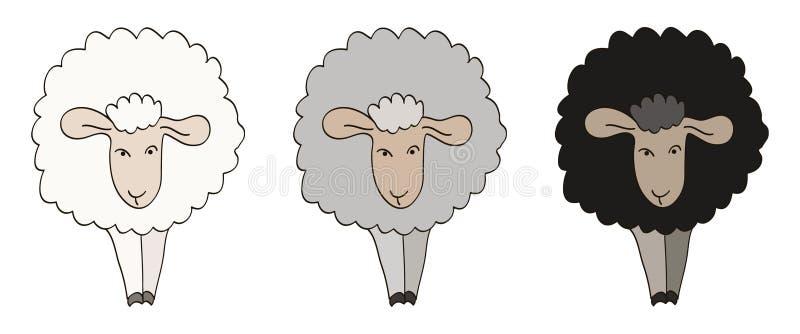 Ilustración de tres ovejas libre illustration
