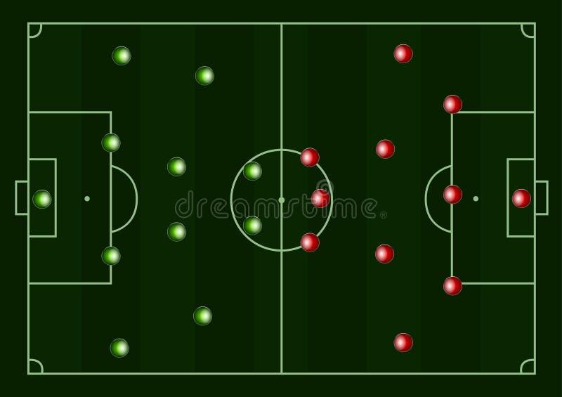 Ilustración de un campo de fútbol stock de ilustración