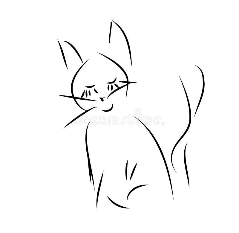 Download Ilustración de un gato ilustración del vector. Ilustración de belleza - 42440717