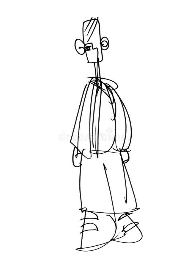 Ilustración de un individuo libre illustration