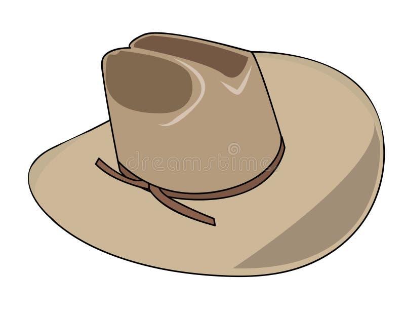 Ilustración de un sombrero de vaquero ilustración del vector