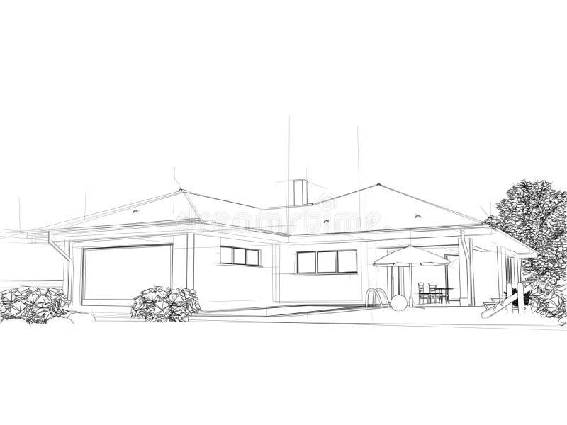 Ilustración de una casa. ilustración del vector