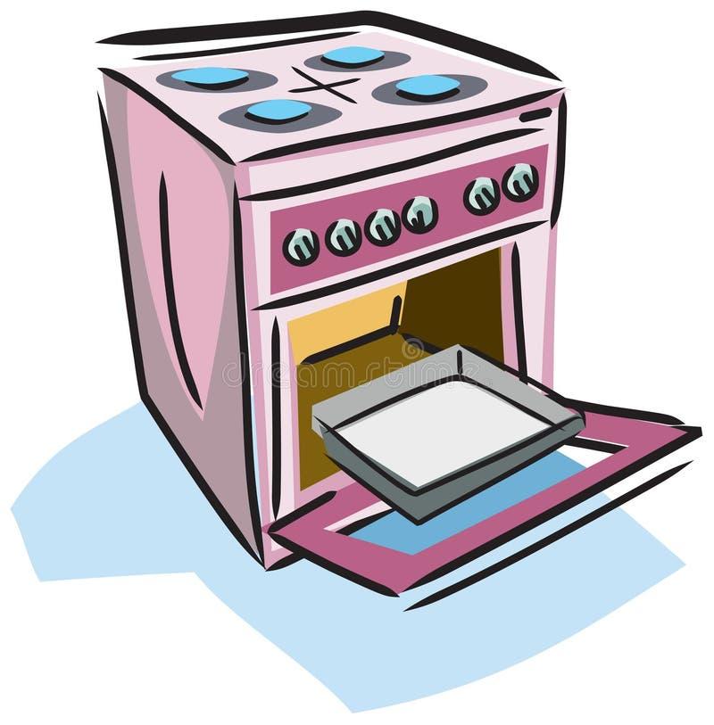 Ilustración de una estufa ilustración del vector