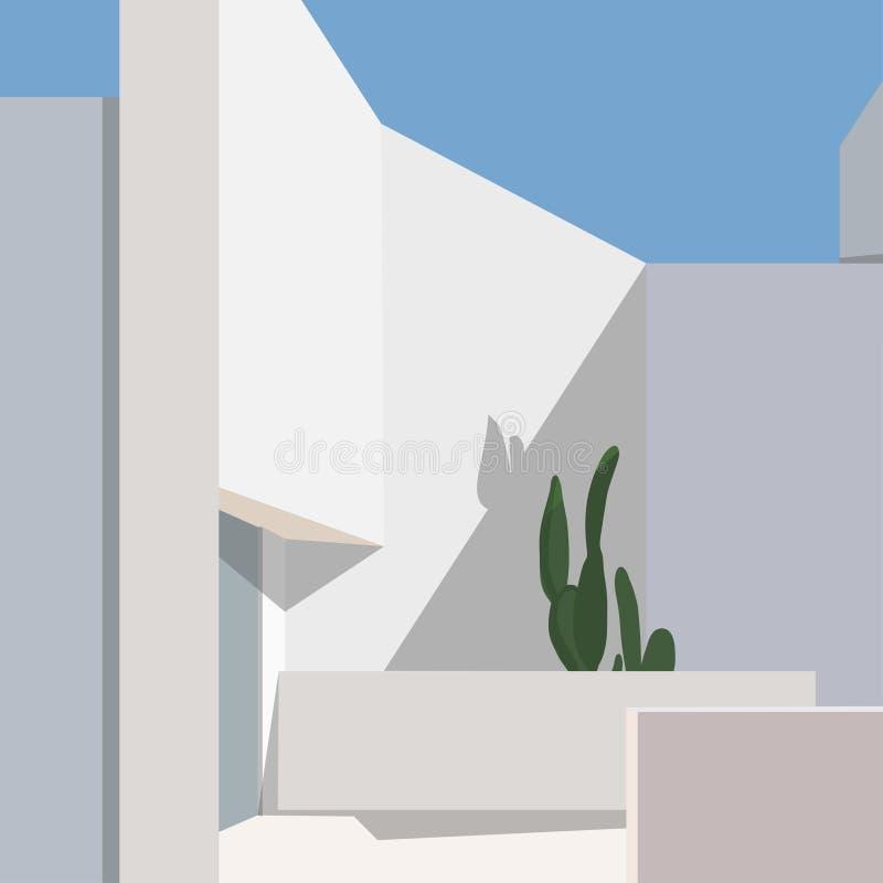 Ilustración de vector de estilo dibujado a mano por Cityscape ilustración del vector