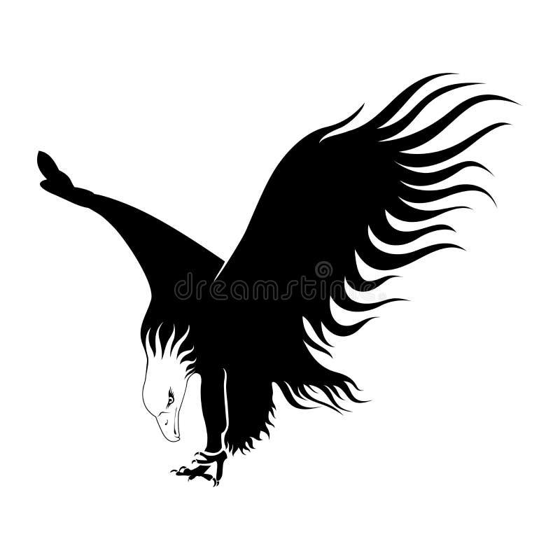 Ilustración del águila calva stock de ilustración