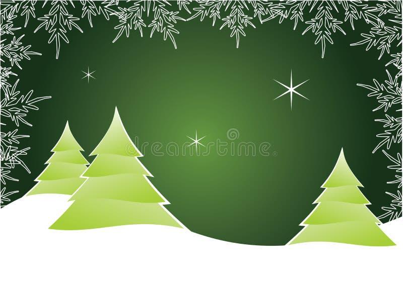 Ilustración del árbol de navidad stock de ilustración