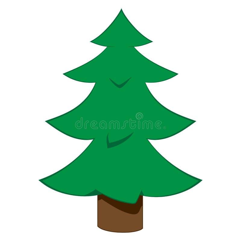 Ilustración del árbol de navidad fotografía de archivo