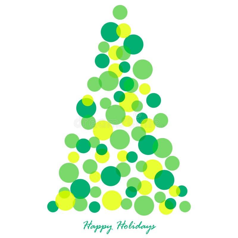 Ilustración del árbol de navidad fotos de archivo