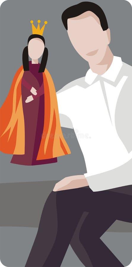 Ilustración del agente de la marioneta libre illustration