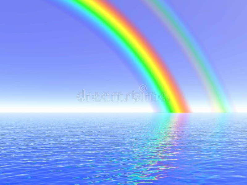 Ilustración del arco iris ilustración del vector