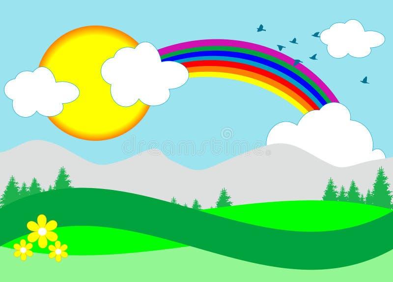 Ilustración del arco iris stock de ilustración